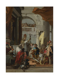 The Marriage of Frederick Barbarossa, C.1753 Giclée-tryk af Giandomenico Tiepolo