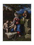 The Holy Family under an Oak Tree, Ca 1518 Reproduction procédé giclée par  Raphael