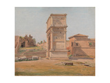 The Arch of Titus in Rome, 1839 Giclee Print by Constantin Hansen