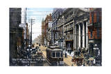 Looking West Along King Street, Toronto, Canada, C1900s Stampa giclée