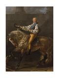 Equestrian Portrait of Stanislaw Kostka Potocki (1755-182) Giclee Print by Jacques Louis David