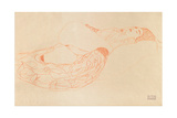 Reclining Semi-Nude (Masturbatin), 1912-1913 Impressão giclée por Gustav Klimt