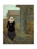 In a Country Village. Going to Church, 1903 Giclee Print by Andrei Petrovich Ryabushkin