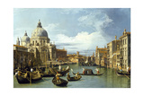 The Entrance to the Grand Canal, Venice, Ca 1730 Gicléetryck av  Canaletto