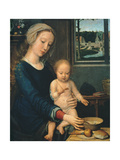 Madonna and Child with the Milk Soup, 1510-1515 Gicléetryck av Gerard David