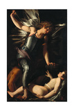 The Divine Eros Defeats the Earthly Eros, Ca 1602 Giclée-tryk af Giovanni Baglione