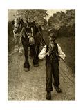 The Plough Boy, 1900 Giclee Print by Henry Herbert La Thangue