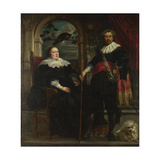 Portrait of Govaert Van Surpele and His Wife, 1636-1637 Giclee-trykk av Jacob Jordaens