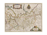 Map of Russia (From: Partes Septentrionalis Et Orientali), 1630S Giclée-Druck von Isaac Abrahamsz Massa
