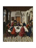 The Last Supper Altarpiece (Central Pane), 1464-1468 Giclée-tryk af Dirk Bouts