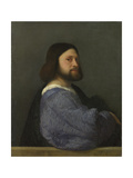 A Man with a Quilted Sleeve (Ludovico Ariost), C. 1510 Giclée-tryk af  Titian (Tiziano Vecelli)