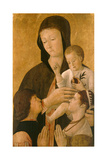 Madonna with Child and Two Donors, 1460 Giclée-tryk af Gentile Bellini