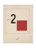 Story of Two Quadrats, 1920 Impressão giclée por El Lissitzky