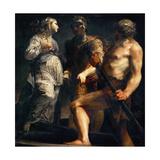 Aeneas, Sibyl and Charon, Ca. 1695 Giclée-tryk af Giuseppe Maria Crespi