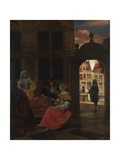 A Musical Party in a Courtyard, 1677 Giclée-vedos tekijänä Pieter de Hooch