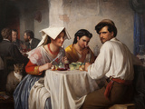 In a Roman Osteria, 1866 Giclée-Druck von Carl Bloch