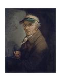 Self-Portrait with Eye-Shade, 1813 Giclée-tryk af Anton Graff