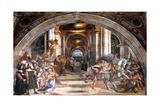 The Expulsion of Heliodorus, 1511-1512 Reproduction procédé giclée par  Raphael