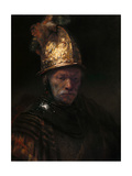 The Man with the Golden Helmet, C. 1650 Giclée-tryk af  Rembrandt van Rijn