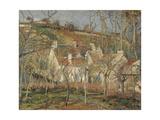 Red Roofs, Corner of a Village, Winter, 1877 Reproduction procédé giclée par Camille Pissarro