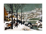 Hunters in the Snow (Winte), 1565 Giclée-Premiumdruck von Pieter Bruegel the Elder