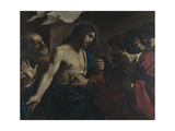 The Incredulity of Saint Thomas, 1621 Lámina giclée por  Guercino