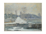The Watering Place at Marly-Le-Roi, C. 1875 Giclee Print by Alfred Sisley