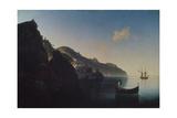 The Coast Near Amalfi, 1841 Giclée-tryk af Ivan Konstantinovich Aivazovsky