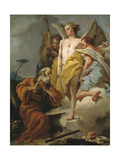 Abraham and the Three Angels, Ca 1770 Giclée-tryk af Giandomenico Tiepolo