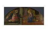 The Annunciation (Medici Pane), C. 1450 Giclée-tryk af Fra Filippo Lippi