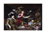 The Knight's Dream Giclee-trykk av Antonio De Pereda Y Salgado