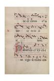 The Gradual. Initial P, C. 1500 Giclee Print by  Antonio da Monza