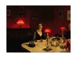 A Dinner Table at Night, 1884 Giclee Print by John Singer Sargent