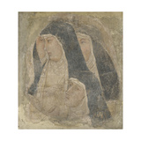 A Group of Four Poor Clares, Ca 1340 Giclée-tryk af Ambrogio Lorenzetti
