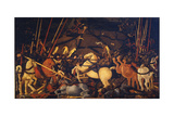 The Battle of San Romano, C. 1440 Giclée-Druck von Paolo Uccello