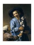 Youths Playing with the Cat, 1620-1625 Lámina giclée por Abraham Bloemaert
