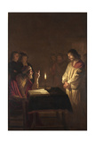 Christ before the High Priest, C. 1617 Giclee Print by Gerrit van Honthorst