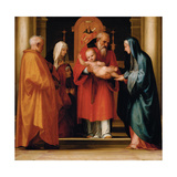 The Presentation in the Temple, 1516 Giclée-tryk af Fra Bartolommeo