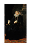 Portrait of a Genovese Lady, C. 1621 Giclée-Druck von Sir Anthony Van Dyck
