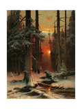 Snow in Forest, 1885 Giclee Print by Juli Julievich Klever