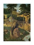 The Temptation of Saint Anthony, C. 1490 Giclée-Druck von Hieronymus Bosch
