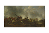 Cavalry Attacking Infantry, 1656-1668 Giclee Print by Philips Wouwerman