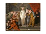 The Italian Comedians, Ca 1720 Giclée-tryk af Jean Antoine Watteau