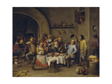 Twelfth Night Party, 1650-1660 Giclée-Druck von David Teniers the Younger