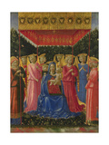 The Virgin and Child with Angels, C. 1450 Giclée-tryk af Benozzo Gozzoli