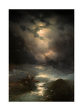 North Sea Storm, 1865 Giclée-tryk af Ivan Konstantinovich Aivazovsky