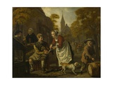 A Village Scene with a Cobbler, C. 1650 Giclée-Druck von Jan Victors