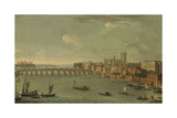 Four Views of London: the Thames Looking Towards Westminster Giclée-tryk af Antonio Joli