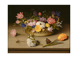 Still Life with Flowers, 1614 Giclee Print by Ambrosius Bosschaert the Elder