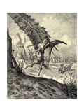 Illustration to the Book Don Quixote De La Mancha by M. De Cervantes, 1863 Giclee-trykk av Gustave Doré